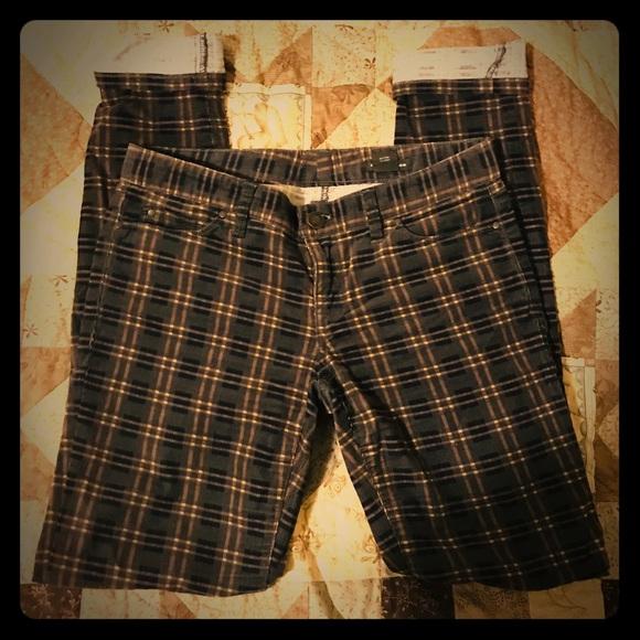 Club Monaco Corduroy Plaid Trousers